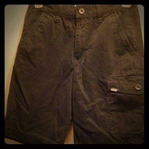 boys vans cargo black skater shorts size 12
